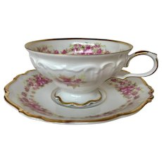 Grace West Germany tea cup with saucer, pink roses