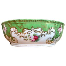 L. S. & S. Austria porcelain bowl with 22 karat gold trim and hand painted roses