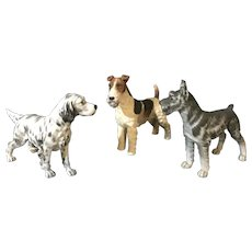 Cute Dogs Figurines By Andrea By Sadek Set Of Tree