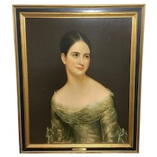 Gorgeous Miss Pearce by Thomas Sully framed print 30''x25''