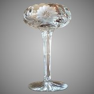 Gorgeous American Brilliant Cut Crystal Compote Pedestal Bowl