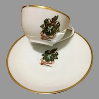 The Coat Of Arms Of GEORGE WASHINGTON tea cup and saucer set by Limoges France
