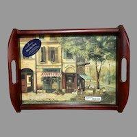 Pimpernel England wooden serving tray Parisian scenes