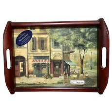 Pimpernel England wooden serving tray Parisian scenes