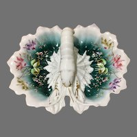 Lobster serving dish with lobster handle and flowers, Germany