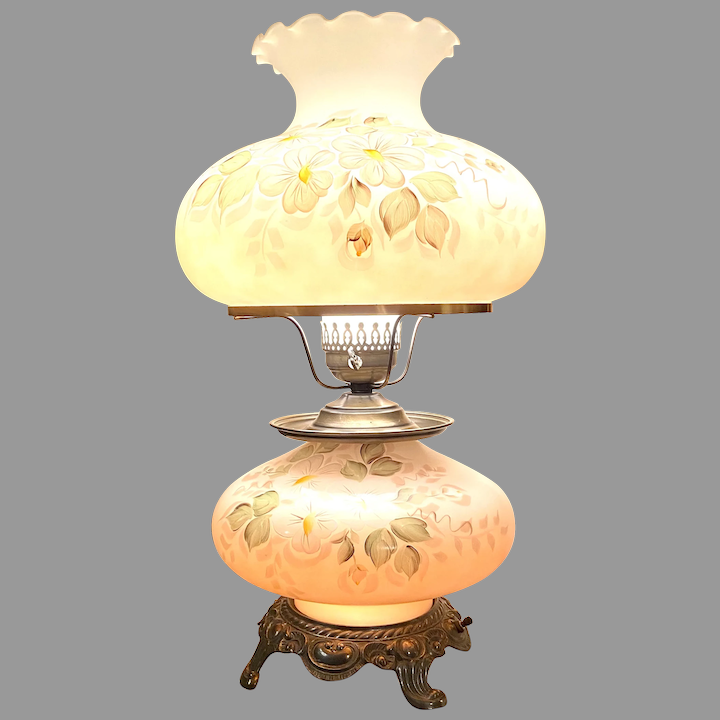 Stunning Large Double Globe Accurate, Vintage Double Globe Lamps