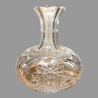 ABP cut glass wine carafe decanter