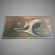 1982 Rudy Lechleiter Canada Wood Metal Art Flying Birds