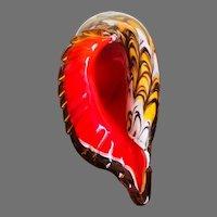Beautiful Murano Style Art Glass Conch Sea Shell