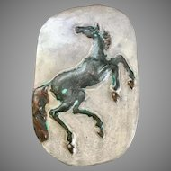 Beautiful Terra Cotta Clay Horse Wall Plaque