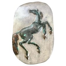Beautiful Terra Cotta Clay Horse Wall Plaque