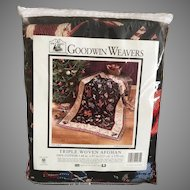 Goodwin Weavers Christmas Toy Chest Triple Woven Afghan 100% Cotton