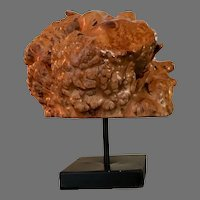 Beautiful Burl Wood Sculpture On Stand