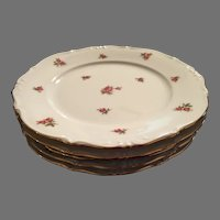 Set of 5 Bavaria Germany rose pattern dessert salad plates