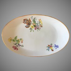 Gorgeous Arzberg Germany large oval platter with hand painted flowers