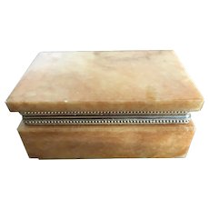 Hand carved genuine alabaster box hand made in Italy