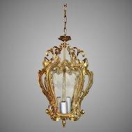 Italian Solid Brass Ceiling Foyer Lantern Chandelier