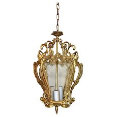 Italian Solid Brass Ceiling Foyer Lantern Chandelier
