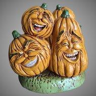 Fall ceramic pumpkin napkin holder