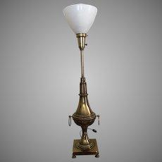 Stiffel brass torchiere  table lamp