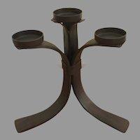 Flat Iron four tea light, votive candelabra