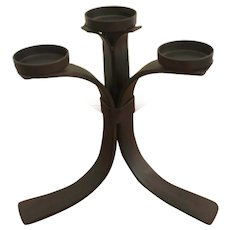 Wrought iron four tealight votive candelabra