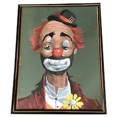 Beautiful Clown oil painting 14'' by 11''