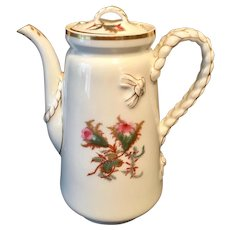 Antique 19-th century H & C Limoges Tea, Coffee pot 9.5'' tall