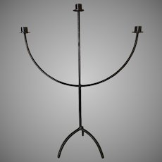 Tall and very wide Wrought iron candelabra