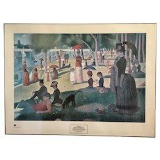 Georges Seurat Sunday Afternoon On The Island Of La Grande Jatte 1965 Framed Print