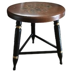 Vintage Hitchcock seating stool