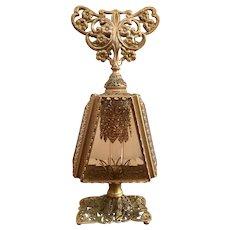 Lovely gold filigree purple glass perfume bottle