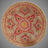 Large woven basket, tray