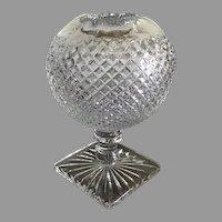 Vintage pressed glass rose bud vase ivy bowl