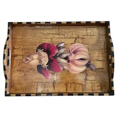 Annie Modica vintage butterscotch banana flower large tray