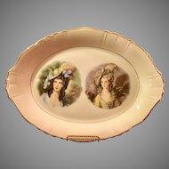 Gainsborough series 22 kt gold trim oval platter