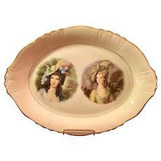 Gainsborough series 22 kt gold trim oval platter