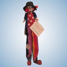 Madame Alexander 1992 Stilts Clown