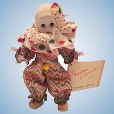 "Madame Alexander 1992 8"" Bubbles Clown"