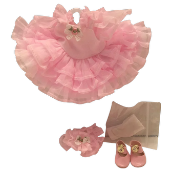 Ginny Doll Clothes 1999 Ruffles & Roses