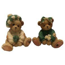Cherished Teddies 1993 Irish Boy and Irish Girl
