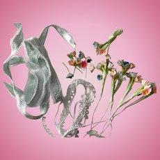 Vintage Tiny Doll Flowers Miniature Millinery Bouquets & Bits Lace Trims