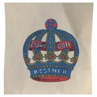 Antique Vtg Kestner Doll Crown Paper Scrap Applique or Label for Découpage Decal