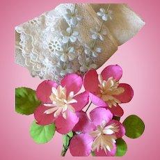 d6e974af48abb Vintage Hat Millinery Clothing Floral Flowers Bridal Doll Embellishments.  Tattered Ruins