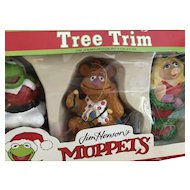 Vintage Jim Henson's Muppets Christmas Ornaments Lot Nip Box Kurt Adler