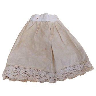 Antique Vtg Doll Slip Petticoat Primitive Teddy Bear Dress Clothes Costume