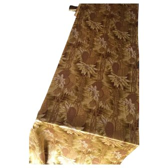 Antique Art Nouveau Piano Scarf Runner Silk Morris Era Gold Victorian Edwardian