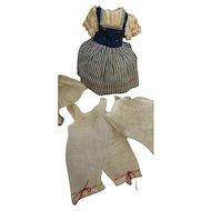 Vintage German Doll Dress Chemise Slip Petticoat Bonnet Outfit Factory