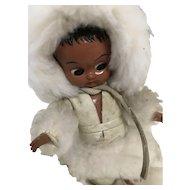 Vintage Googlie Doll Celluloid Eskimo Boy Cozy Big Round Shut Eyes Cutest