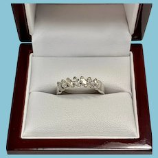 Contemporary 14 karat White Gold Marquise Diamond Band, .50 carat total, Size 8